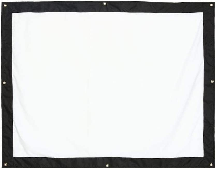 QiruIXinXi White Projection Screen with 4-Side Black Borders,Suitable for Both Indoor and Outdoor Needs,Five Size (60, 72, 100, 120, 150 Inch) Washable and Folding(120inch)