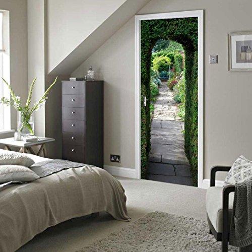 Wandtattoo Rosennie 3D Kreative Türaufkleber Schlafzimmer Türen Renovierung Wasserdichte Tür Aufkleber Continental einfache Wohnzimmer Wandaufkleber Tapetensticker Fensterbild Wandaufkleber