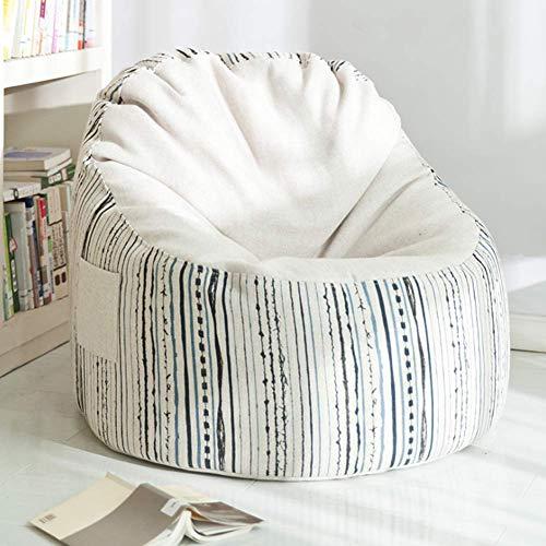 Leniwa sofa krzesło, mini antypoślizgowe wodoodporne osłona dla psów pikowana kółka sofa zwierząt domowych i dzieci dorosłych siedzenia sypialnia meble 1 osobowy, biały, biały/kod towarowy: LJW-66