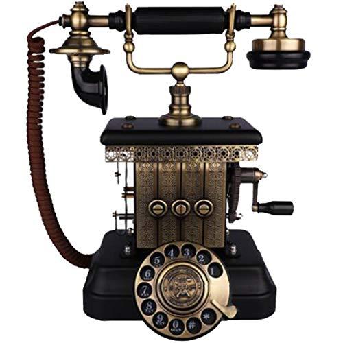 VERDELZ TeléFono Antiguo Americano Retro Tono De Llamada Doble Vintage Antiguo Hogar Sala De Estar Dormitorio Oficina TeléFono Fijo