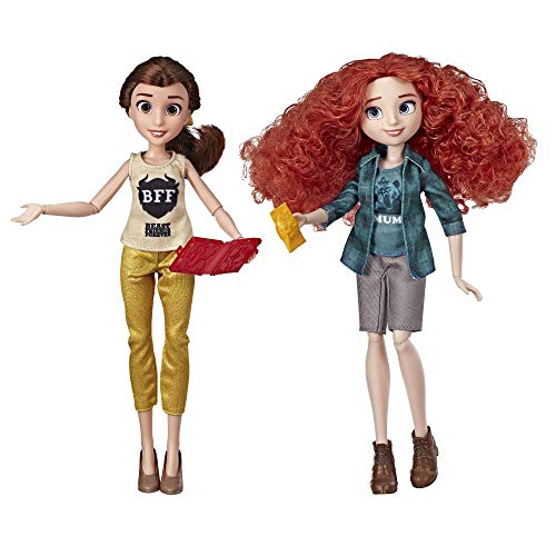 Disney Princess Ralph Breaks The Internet Movie Dolls, Belle and Merida Dolls with Comfy Clothes and Accessories
