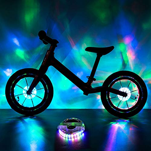 BRIONAC Rechargeable Bike Wheel Lights (Five Colors, 1-Wheel)