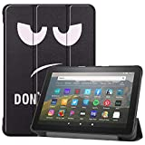 TiKeDa Case for All-New Fire HD 8 Plus Tablet (10th Generation,2020 Release),Slim Folding Stand Cover with Auto Wake/Sleep (Big Eye Me)