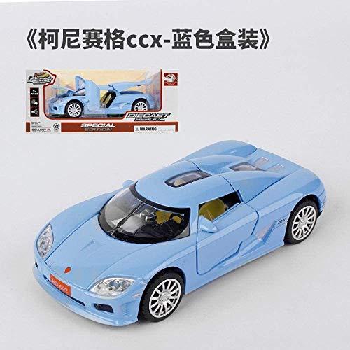 Model auto's 1:32 hoge simulatie Koenigsegg automodel vier open deuren terug te trekken met verlichting en geluid legering auto for kinderen en speelgoed dljyy ( Color : WB613L no box )