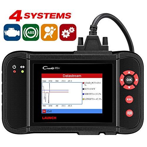 LAUNCH X431 Creader VII+ Car Code Reader EOBD, OBD2 Scanner Scan Tool Testing Engine/Transmission/ABS/ Airbag System Update via PC