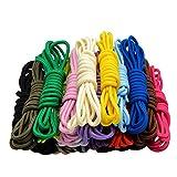 Stonges 20 pares de cordones redondos surtidos de color de 5 mm de ancho cordones de zapatos para zapatillas de deporte Botas de patín de senderismo deportivo zapatos deportivos
