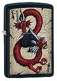Zippo Dragon Ace Design Black Matte Pocket Lighter