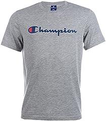 Champion Camiseta Gris Large de Manga Corta para Hombre