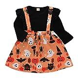 Baby Christmas Halloween Costume,Leegor Kids Girls Bud Long Sleeve Tops Pumpkin Cartoon Skirt Outfits Set Black