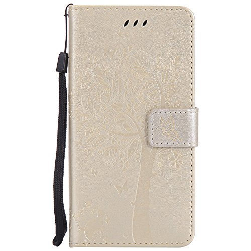 Nancen Compatible with Handyhülle Motorola Moto G5 Plus (5,2 Zoll) Flip Schutzhülle Zubehör Lederhülle mit Silikon Back Cover PU Leder Handytasche im Bookstyle Stand Funktion