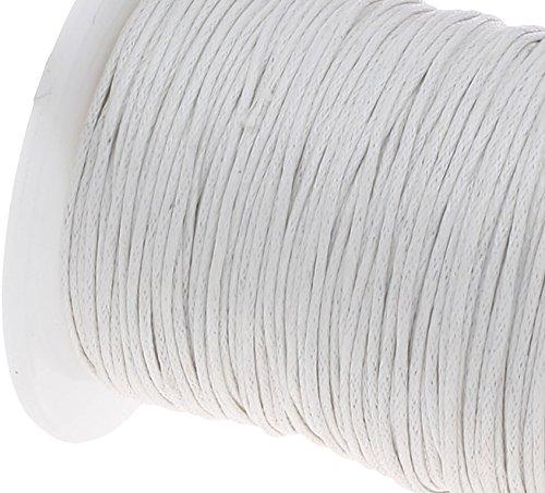 Perlin 180 m BAUMWOLLKORDEL GEWACHST SCHMUCK 1,5 mm Weiß WACHS Faden BASTELN Korea Ware 1 A Qualität