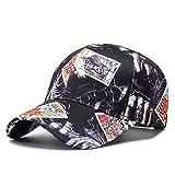 Parejas gorra de béisbol al aire libre a caballo Sombrero de sol, creativo Graffiti Impresión de patrón de Hip Hop...