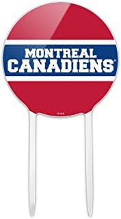 GRAPHICS & MORE Acrylic NHL Montreal Canadiens Logo Cake Topper Party Decoration for Wedding Anniversary Birthday Graduation