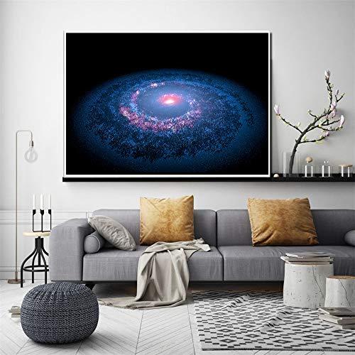YuanMinglu Astronauta Cartel Explorar Colorido Tierra Nebulosa Espacio Planeta Universo Galaxia Lienzo Moderno decoración del hogar Impresiones sin Marco 60X90cm