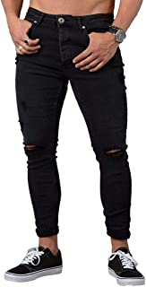 Ximandi Cotton Jean Male Pants Vintage Hole Cool Trousers America Style Ripped Jeans
