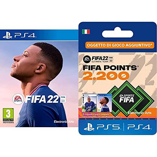 FIFA 22 [Playstation 4] + FIFA 22 Ultimate Team - 2200 FIFA Points   Codice download per PS4/PS5 - Account italiano