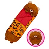 "Happy Nappers Pillow & Sleepy Sack- Comfy, Cozy, Compact, Super Soft, Warm, All Season, Sleeping Bag with Pillow- Bear (Medium- 54"" x 20"")"