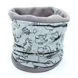 Steffi's Nähkiste Kinder Loop Schal Drachen grau mit wärmenden Fleece