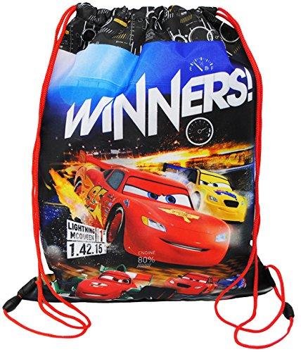 alles-meine.de GmbH Sportbeutel - Schuhbeutel - Turnbeutel __  Disney Cars - Lightning McQueen  - wasserfest / abwischbar & wasserabweisend - für Kinder - Schulbeutel Kindergar..