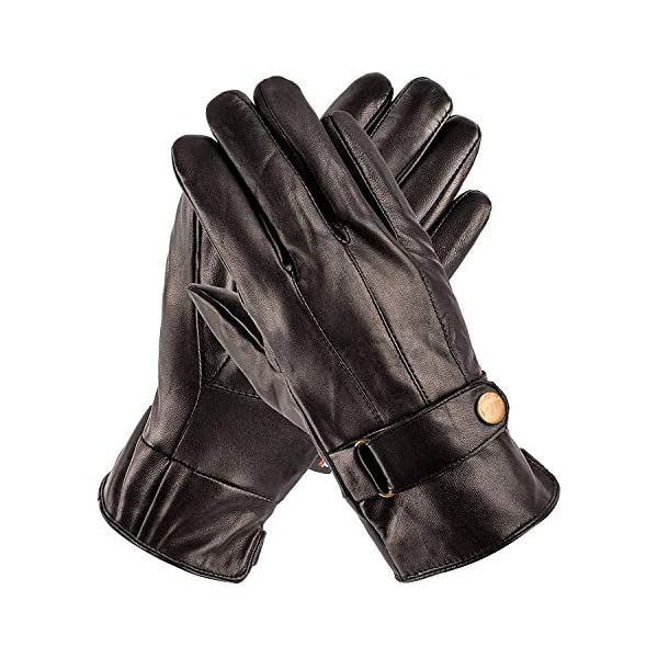 Pierre Cardin Luxury Mens Leather Winter Gloves 1