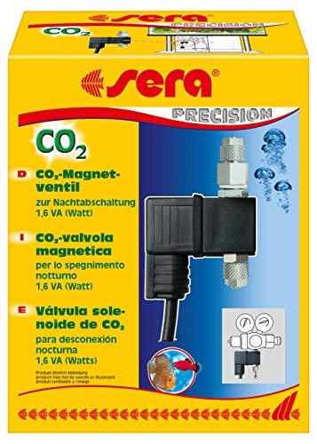 Sera 08030 CO2-Magnetventil 2 Watt - einfache Nachtabschaltung der CO2-Zufuhr für eine CO2 Anlage (passend für alle CO2 Anlagen), schwarz