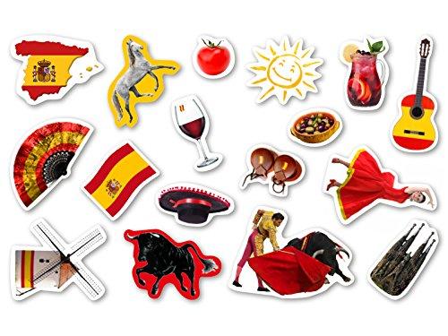 Lot de 51 confettis grand format XXL pour une fête à thème, fête d'enfants, anniversaires d'enfants, motif Espagne