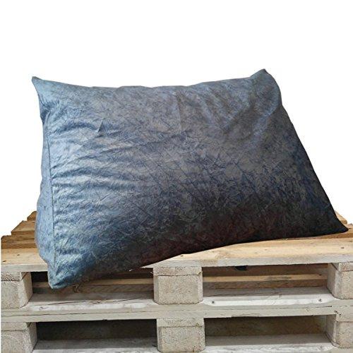 XXL-Keilkissen Keila Travo, Lese-Kissen, Rückenstütze, Sofa-Kissen, Nackenstütze, Paletten-Kissen für optimalen Sitzkomfort (94 x 64 x 42 cm) (blau)