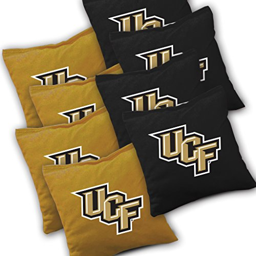 Buckeye Nation Sales UCF Central Florida Knights Cornhole Bags Set of 8 Officially Licensed ACA Regulation Baggo Bean Bags ~ Made in The USA