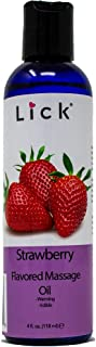 Strawberry Flavored Massage Oil for Massage Therapy - Relaxing Muscle Massage for Men and Women with Natural Vitamin e Oil...