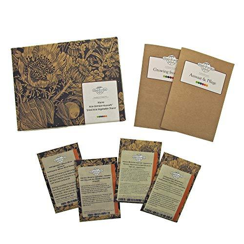 Kleine Asia-Gemüse-Auswahl - Samen-Geschenkset mit 4 typischen asiatischen Gemüsesorten für Wok und Dampfgarer