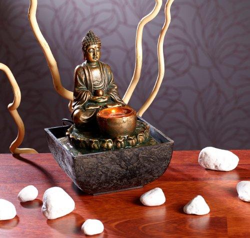 Beleuchteter Zimmerbrunnen | Gartenbrunnen | Buddha | infactory - 2