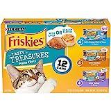 Purina Friskies Gravy Wet Cat Food Variety Pack, Tasty Treasures Prime Filets - (12) 5.5 oz. Cans
