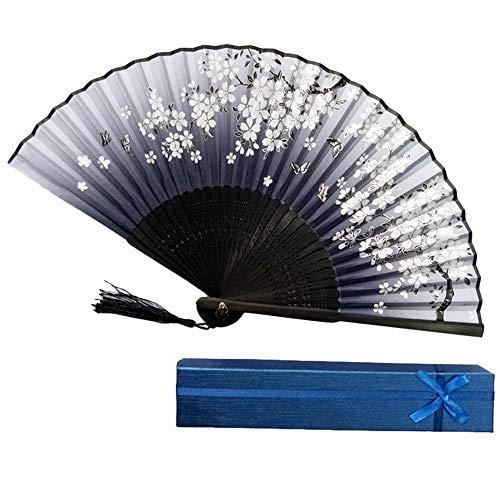 Faltventilatoren Handheld Hand Gehaltener Fan Bambuspapier Faltfächer Party Hochzeitsdekor Vintage Fans Papier Home Bambus Geburtstag E