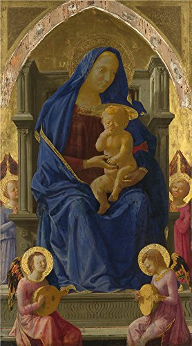 Oil Painting 'Masaccio The Virgin And Child', 24 x 43 inch / 61 x 110 cm , on High Definition HD canvas prints is for Gifts And Game Room, Gym And Home Office Decoration, extra large