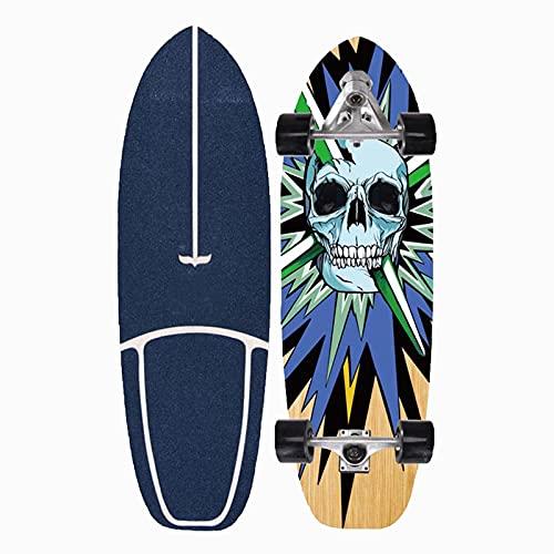 VOMI Carving Skateboard para Principiantes 29,5 Pulgadas 8 Capas Maple Deck Monopatín Completo Land Surfboard Patineta Adolescentes Tabla de Surf Adultos, Apto para Todos Los Niveles