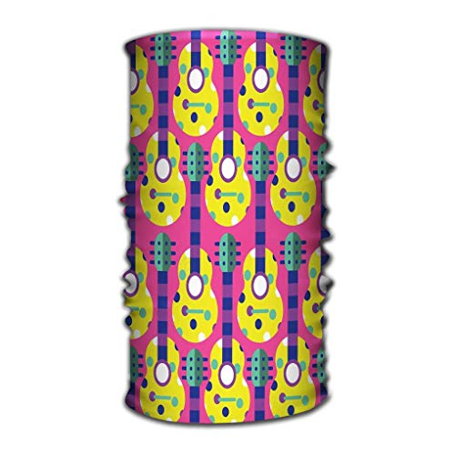 Quintion Robeson Head Wraps Head Scarf para Mujeres Hombres Guitarra Acústica Audio Color Colorido Concierto Diseño Instrumento gráfico Pinturas