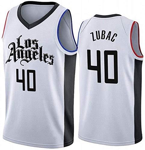 XSJY Jersey De Mujeres para Hombres - NBA Los Angeles Clippers 40# Ivica Zubac Jerseys Transpirable Baloncesto Baloncesto Swingman Jersey,A,M:170~175cm/65~75kg