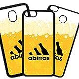 QFUNDAS Fundas De Moviles Carcasas De Moviles Funda Carcasa Compatible con Samsung Galaxy J6 2018 Modelo Chistes Marca Deportiva Cervezas a Birras