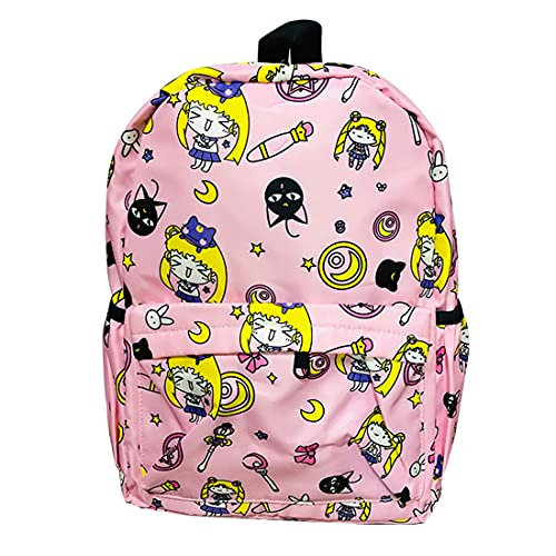 Sailor Moon Backpack,Anime Book Bag,Cosplay Gift Set,So Beautiful School Accessories for Women