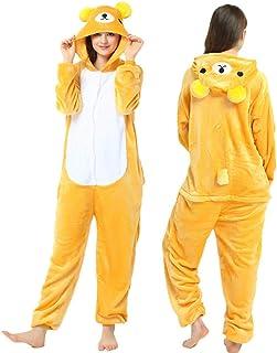 Pijamas De Una Pieza para Adultos Disfraces para Fiestas Navideñas Blanco Amarillo Osito