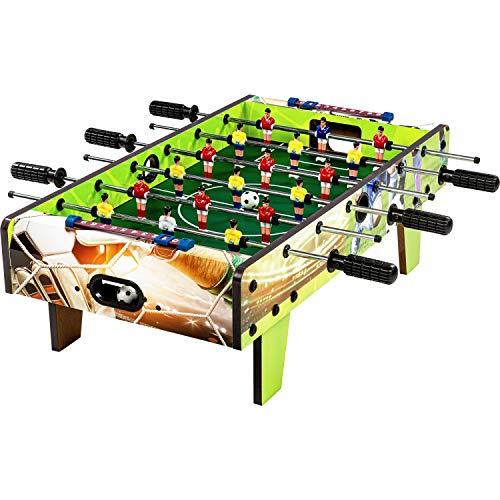 """Maxstore Mini Kicker Tischfußball """"Chelsea"""", Soccer Design, Maße: 70x37x25 cm, Gewicht: 4 kg, 6 Spielstangen, Kleiner Kinder Tischkicker inkl. 2 Bälle"""