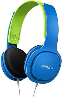 Philips SHK2000 Kafabantlı Çocuk Kulaklığı, Mavi-Yeşil