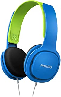 Philips SHK2000BL Kids Headphones, Blue/Green