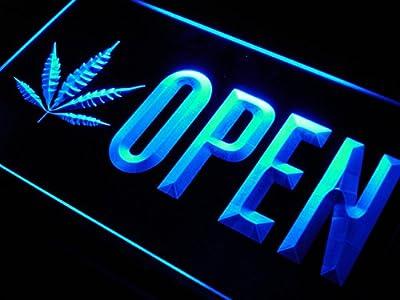 ADVPRO Open Marijuana Hemp Leaf High Life LED Neon Sign st4-j791