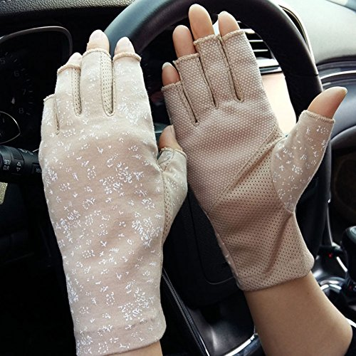 Qchomee - Radsport-Handschuhe für Mädchen in Khaki