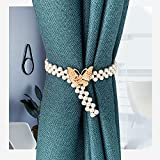 WXXT 2 Piezas de Corbata de Cortina de Perlas,Correas de...