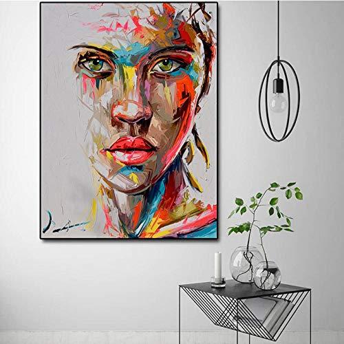 Terilizi Abstract mes, hoogformaat, modern schilderen, grote afmetingen, canvas, kunstdruk, canvas, 60 x 80 cm, zonder lijst