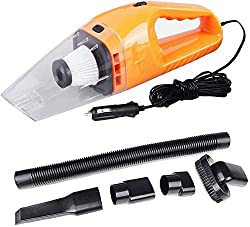 YOZO Car Vacuum Cleaner Vacuum/Sucking, Handheld Vacuum Cleaner with Multiple Attachments & Storage Bag (Orange),YOZO