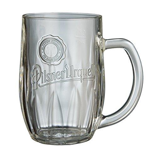 Pilsner Urquell cerveza taza/jarra vaso de pinta y medio litro con forro (1) de cristal