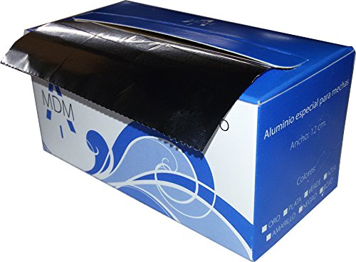Aluminio para mechas, rollito de aluminio especial mechas 12 de ancho x 70 metros, color PLATA